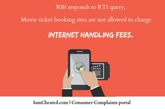 Movie Ticketing Apps Not Allowed to Charge 'Internet Handling Fee' from Customers, Says RBI Infographics, Apps, Information Graphics, Infographic, Info Graphics, App