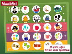 Maui Mini Jogos Educativos reúne 25 mini jogos em um único aplicativo para crianças de 2 - 3 - 4 - 5 anos de idade.