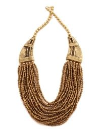 Buy BROWN ALLOY NECKLACE