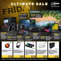 Newegg Black Friday 2018 Ads and Deals Browse the Newegg Black Friday 2018 ad scan and the complete product by product sales listing. Black Friday 2019, Electronic Deals, Online Shopping Deals, Print Ads, Coupons, Print Advertising, Coupon