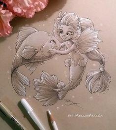 Mermaid 4 by KelleeArt on DeviantArt