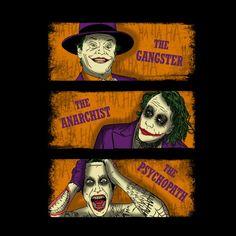 #DC Comics: The #Joker / The Good, the Bad and the Ugly mashup t-shirt.