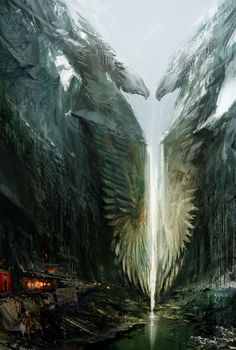 Beautiful concept art of a place I'd love to visit. Please, take me to Ebonhawke.