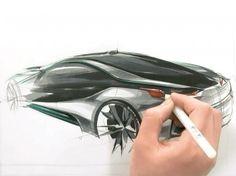 BMW i80 Concept design sketching