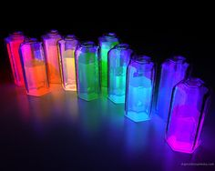 Water and glow sticks in a jar!! This would be so cool for a night time pool party!!