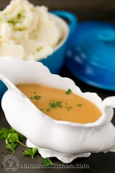 Hands down the best turkey gravy recipe! Turkey gravy is easy and irresistible over mashed potatoes. The folks at your holiday table will remember it.