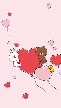 Line Friends Wallpaper New Wallpaper Iphone, Lines Wallpaper, Brown Wallpaper, Cute Panda Wallpaper, Bear Wallpaper, Kawaii Wallpaper, Cute Kawaii Animals, Cute Love Gif, Friends Wallpaper