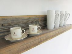 30-inch Reclaimed Rustic Wood Shelves // Upcycled by reVetro