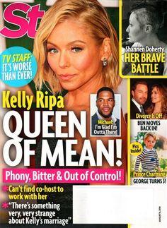 Star Magazine August 8, 2016 KELLY RIPPA, Michael Strahan, Shannen Doherty - NEW
