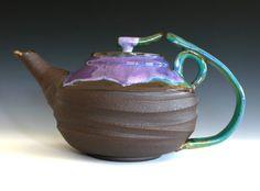 LARGE Teapot Handmade Stoneware Teapot Large Ceramic by ocpottery