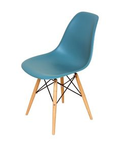 60% OFF Control Brand Mid-Century-Inspired X-Leg Dining Chair, Turquoise