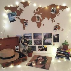 Use cork board to make my own wall map