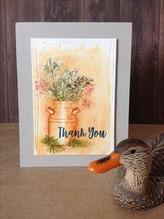 Thank you card by Melodie.  Art Impressions with My Favorite Things sentiment.