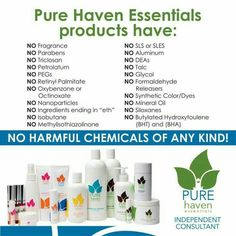 PURE haven essentials  Safe, Natural, Non-Toxic, and Chemical FREE products! Visit:  www.purehavenessentials.com/melissaluther  Party #:  157371  Independent Consultant