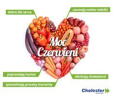 Czerwone warzywa i owoce kochają nasze serca  #cholesterol #dieta #warzywa #owoce #zdrowie
