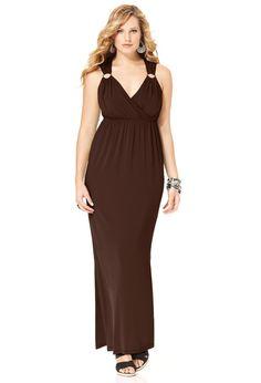 Plus Size Solid Ring Maxi Dress | Plus Size Maxi Dresses | Avenue