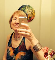 Self Portrait - with an Apple. Photo Christina Belin.