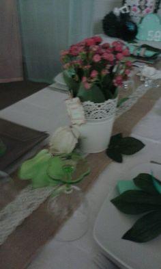 Decoração mesa dos convidados atelier katy mota