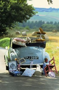 "Going on a pretty picnic! Puts a new slant on ""everything but the kitchen sink""! Vw Bus, Volkswagen, Morris Minor, Road Trip, Combi Vw, Picnic Time, Summer Picnic, Mode Of Transport, English Countryside"