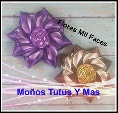 Elaboracion de flores de satin apropiadas para accesorios de eventos especiales. Flor satinada mil faces. Venta de material - Our Store: https://www.facebook...