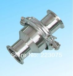 149.00$  Buy here - http://ali040.shopchina.info/go.php?t=1694050282 - New arrival Sanitary stainless steel SS304 Check Valve Clamp Type 3''  #bestbuy