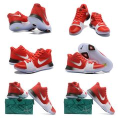 9cb26bd6df5 New Kyrie Shoes Kyrie 3 III New Colorways University Red White Silver