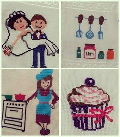 Cross Stitch Designs, Cross Stitch Embroidery, Diy And Crafts, Kids Rugs, Fictional Characters, Crossstitch, Summer, Painting On Fabric, Aprons