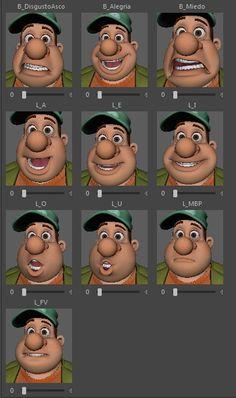 Braulio Animum Facial Expressions 2