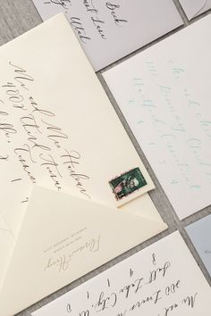 Hand lettered, Wedding Calligraphy, Wedding Invitations, Wedding Stationary. Photography by Rustic White Photography | Paper by @olivejuicepress