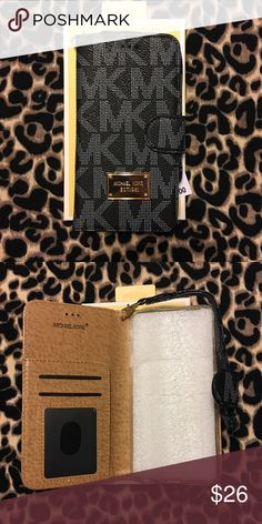 MK Black iPhone 7 PLUS Wallet Case New with tags and box! This wallet case includes storage for your ID, cards, and cash. Comes with wristlet strap. For iPhone 7 Plus. Michael Kors Accessories Phone Cases