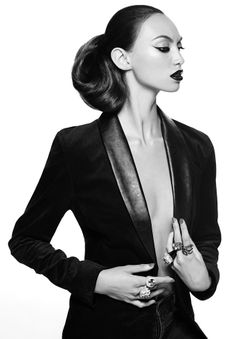 Black Magazine Online - Workshop Denim Velvet Tuxedo Jacket