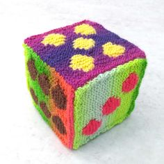 Items similar to Large hand knitted play dice soft toy baby gift learning / play block cube numbers knitted educational toy baby christening gift on Etsy Unusual Christmas Gifts, Baby Christmas Gifts, Unique Toys, Unique Gifts, Childrens Gifts, Christmas Knitting, Happy Birthday Cards, Dice, Baby Toys