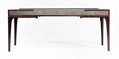 Gazelle Desk - Macassar Ebony and Shagreen  by NEWELL DESIGN STUDIO at Bespoke Global