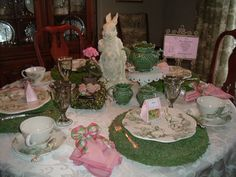Miss Janice: Bunny Toile Tablescape