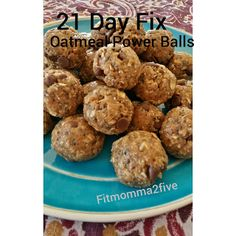 21 Tage Fix Haferflocken Power Balls - 21 Day Fix - chicken 21 Day Fix Desserts, 21 Day Fix Snacks, 21 Day Fix Diet, 21 Day Fix Meal Plan, 21 Day Fix Recipies, 21 Day Fix Breakfast, 21 Fix, Recipe 21, Recipe Ideas