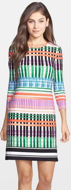 Trending Fall 2014 - Mod: Eliza J Print Jersey A-Line Dress
