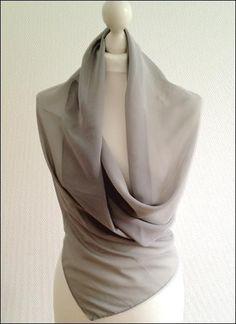 Chiffon Stola in grau Accessoire für Abendkleider