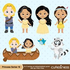 Princess Clipart Princess Digital Clipart Pocahontas por Cutesiness