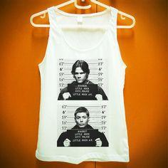 Sam Dean Supernatural Mug Shot Tshirt Shirt Tank Tops Women Girl Size S M L XL on Etsy, £9.19