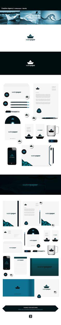 waterpaper ID / Creative Agency by Belc , via Behance