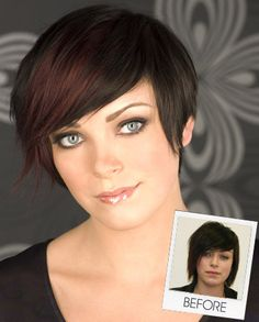 Love the haircut . . . and her incredible eyes.  2010 Fall Hairstyles   EvelineCharles