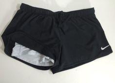 "Nike Dri-Fit Women's Just Do It Fold Down Waist Running Black 4"" Shorts Large #Nike #Athletic"