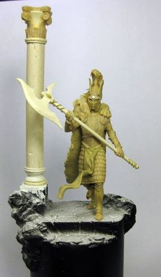 """White Lion by Christoph """"Trovarion"""" Eichhorn · Putty&Paint High Elf, White Lions, Fantasy Characters, Elves, Statues, Sculpting, Art Drawings, Projects, Crafts"""