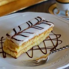 Millefeuille is a French pastry prepared with 3 layers of puff pastry and 2 layers of pastry cream, and that is covered with icing sugar or fondant.