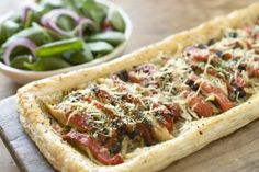 Chicken, Kalamata Olive and Roasted Red Pepper Tart