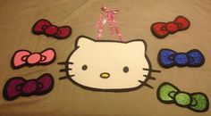 Pin the bow on the Kitty - DIY with poster board sharpies and glitter.