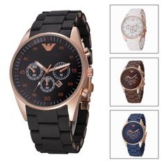 Watch analog silicone #wristwatch chronograph #business men's casual #quartz,  View more on the LINK: 	http://www.zeppy.io/product/gb/2/282084236883/