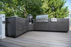 Thinking about creating the backyard kitchen of your dreams, but aren't sure which layout is best for you? Give the L-Shaped Outdoor Kitchen a try!