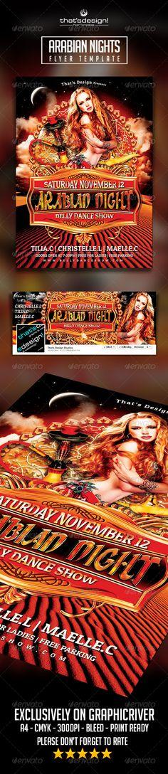 Arabian Nights Flyer Template V2 Official website : http://thats-design.com/