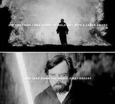 #Luke Skywalker x #Star Wars The Last Jedi #epic moment